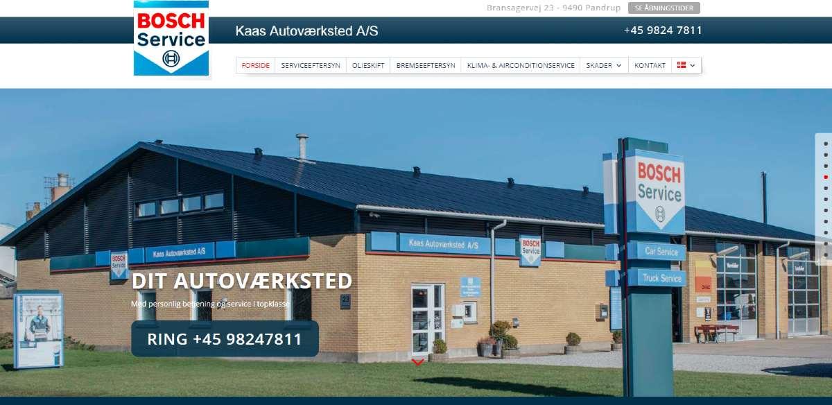 Ny hjemmeside til Bosch Car Service